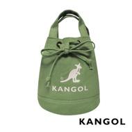 KANGOL 韓版玩色系列-帆布斜背水桶包-草綠AKG1214