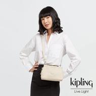 【KIPLING】閃亮象牙粉平口收納小包-ALZINA