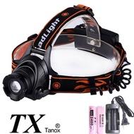 TX特林XML-L2 LED USB充電伸縮變焦強亮頭燈(HD-N83-L2USB)