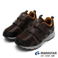 【MOONSTAR 月星】戶外多功能系列-5E寬楦防水健走鞋(咖啡)