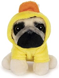 GUND Doug the Pug Duck Hoodie Plush Stuffed Animal Dog, 5""
