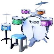 Cx1 Jazz DrumSet for Kids DrumSet Toy with Chair Musical Instrument for Kids Children Musical Drum Set Kids Drum Simulation Musical Instrument