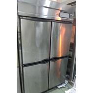 中古四門白鐵冰箱 上冷凍下冷藏 營業用冰箱