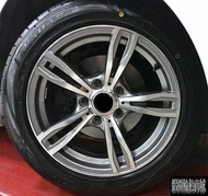 【CS-184】全新鋁圈 類M5 16吋鋁圈 灰底車面 5/120 5孔120 7.5J BMW E90 實裝圖
