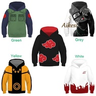 [READY STOCK] Anime Naruto Children's Hoodie 3D Pullover Jacket for Kids