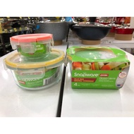 PYREX® Snapware® 1109327 Total Solution 4Pc 4 Cups/1Cup@950ml/236ml Round Glass Food Storage Set