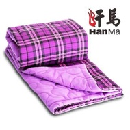 【HanMa 汗馬】奈米鍺生物能量治療毯(格紋深紫/電視熱銷同款/遠紅外線)