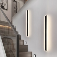 長條燈 長條壁燈led超亮條形臥室過道北歐風格簡約創意樓梯墻壁燈電視墻 照明工具【DD30218】
