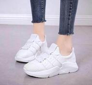 รองเท้าผ้าใบ รองเท้าผู้หญิง คัชชู แฟชั่นเกาหลี New Fashion รุ่น 1103 (สีขาว)