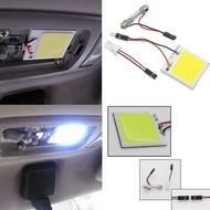 1Pc สีขาว48 LED SMD COB T10 4W 12V แผงตกแต่งภายในรถยนต์ Light โคมไฟทรงโดมหลอดไฟ