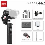 Zhiyun ใหม่ Crane M2 3 แกนกล้องสากลสำหรับสมาร์ทโฟน GoPro HERO 7 5 6 SONY A6300 a6400 Canon VS Crane 2