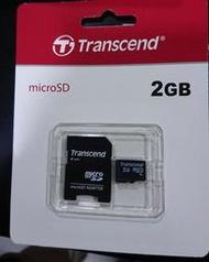 ...點子電腦-北投...全新◎創見 microSD/T-Flash 2GB 記憶卡◎2G,原廠保固5年250元