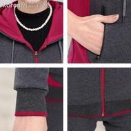 ✖㍿秋冬運動服套裝女媽媽冬天加絨加厚純棉套裝中老年女裝連帽兩件套