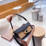 COACH Tabby / Leather Shoulder Bag กระเป๋าสะพายสุภาพสตรีที่ถอดออกได้กระเป๋าสะพายข้าง