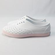 native 洞洞鞋 JERICHO 正品 113004001982 女款 全白x馬卡龍粉【iSport愛運動】