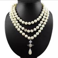 現貨 回饋優惠🎉Vivienne westwood 相似款 土星 珍珠項鍊 聖誕禮物 生日禮物 交換禮物