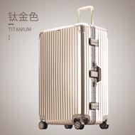 กระเป๋าเดินทางธุรกิจขนาดใหญ่ชายกรอบอลูมิเนียมหนาความจุขนาดใหญ่รถเข็นกล่อง24/32กระเป๋าเดินทางขนาดพกพา