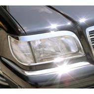 【JR 佳睿精品】BENZ S W140 1991-1998 鍍鉻大燈框 前燈框 電鍍 改裝 配件 台灣製