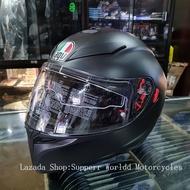 AGV K3 SV Helmet Matte Black Full Face Helmet Dual Visor Full Face Helmet Helmet Motorcycle Full Face Helmet for Motorcycle Safety Helmet Flip Up Helmet AGV K3SV Helmet AGV K3SV Helmet AGV Helmet