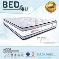 Bed4U -ECOlux (Maple) Mattress - Tilam Queen - King Therapeutic Independent Pocket Spring Mattress / 12inch=