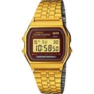 Casio Digital นาฬิกาข้อมือ สีทอง สายสแตนเลส รุ่น A159WGEA