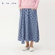 à la sha 大小點點傘狀剪接中長裙