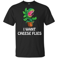 Hip Hop Men T-shirt I Want To Cheese Fly Venus Flying Trap Food Meat Plant Gift