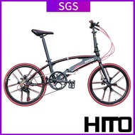 Hito 20/22 inch X6 Foldable Bicycle Outdoor Sports Bike Aviation Technology (high Quality Aluminum)-made In Germany, Installation-FreeFree installation