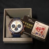 Guess 牛仔布錶帶三眼手錶 W0970G3
