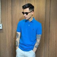美國百分百【全新真品】Nautica Polo衫 休閒衫 短袖 上衣 帆船 素面 網眼 男 藍色 XS號 A212