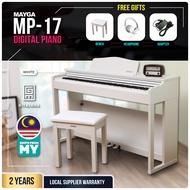 Mayga MP-17 88 Keys Digital Piano + Free Piano Stool + Free Headphone (White)