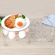 【PUSH!】廚房用品304不鏽鋼蒸架7孔雞蛋蒸架可疊加蒸排骨蒸菜架子(D157)