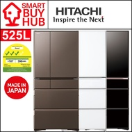 HITACHI 525L R-WXC670KS IOT 6-Door FRIDGE (3 Ticks)