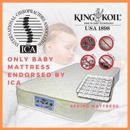 King Koil OrthoGuard 1 Spring Foam 6 inch Aloe Vera or Anti Mosquito Mattress (only ICA-endorsed Baby Mattress)
