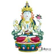 【嘉南佛教文物】【波麗佛像-藏密式四臂觀音】8吋8