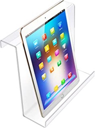 Treadmill Book Holder Clear Acrylic Universal Book Holder Compatible with Ipad, Kindle, Flat Tablet, Nook, eReader Treadmill Book Holder Magazine Reading Rack for Gym Exercising (9 x 8 Inches)