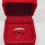 แหวนพลอยเงินแท้ 925 / เคลือบทองคำขาว