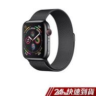 Apple Watch Series 4 LTE 44mm 太空黑色不鏽鋼錶殼搭配太空黑色米蘭式錶環 蝦皮24h 現貨