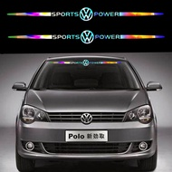 Car Sticker Volkswagen Laser Reflective Auto Parts Stickers Motors Car Front Windshield Side Window Decal Stickers For Volkswagen Passat Tiguan Polo