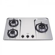 (全省安裝)林內三口檯面爐不鏽鋼鑄鐵爐架瓦斯爐RB-H301S桶裝瓦斯