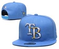 MLB坦帕灣光芒隊 Tampa Bay Rays棒球帽 鴨舌帽 硬挺版 環扣 百搭款 男女可調節帽 MLB帽子