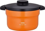 samos (thermos) samos empty cooker shuttle chef 2.8l (for 3 to 5 people) orange [cooking pot fluorin