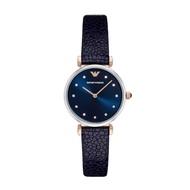 Emporio Armani_Quartz Ar1989 Ladies Blue Leather Women Fashion casual watch