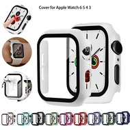 Watch Cover for Apple Watch 6 5 4 40mm 44mm PC Bumper with Screen Protector Film Case for i watch Series 3 2 38mm 42mm Smart watch accessories