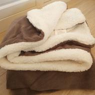 ✲▼小毛毯蓋毯羊羔絨毯子雙層加厚毛毯小毯子珊瑚絨辦公室午休午睡毯 四季午睡法蘭絨 加厚 絨毯 柔軟 棉被 睡毯 羊毛 純
