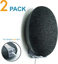 2 Pack!, Minimalist Google Nest Mini 2nd Gen Wall Mount, Command Strips Included!, Damage Free, Screwless & Rigid. 100% Designed & Made in The USA, Perfect for College dorms & Renters. (Nest Mini)