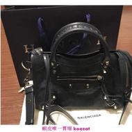 【Anny二手正品】 BALENCIAGA  300295 1000 黑色  Mini  City  bag 機車包