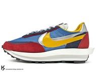[25cm] 2019 高端時尚潮流 日本時尚品牌 阿部千登勢 SACAI x NIKE LDWAFFLE 藍紅黃 鬆餅鞋 拼接 解構 經典 復刻鞋款 (BV0073-400) !