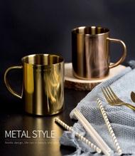 304雙層不鏽鋼杯【NT071】400ML不鏽鋼馬克杯 啤酒杯 不銹鋼杯 露營杯 環保杯辦公室用
