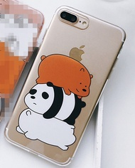 We Bare Bears iphone 6 6s 7 8 plus X Phone Case Cover Cute Bear Soft Protector Bag iphoneX Cases She